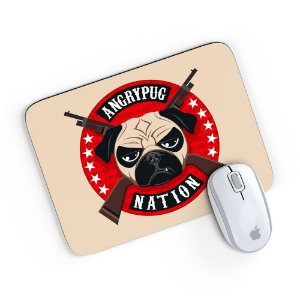 Mouse Pad Angry Pug Nation Bege 24x20
