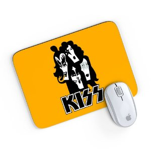 Mouse Pad Banda Kiss 01 Amarelo 24x20