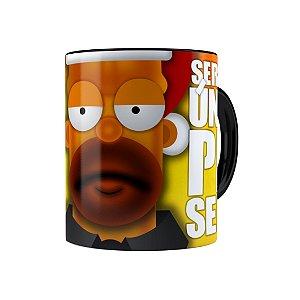 Caneca Porcelana Natal Os Simpsons Homer Será Seu Único Presente Preta
