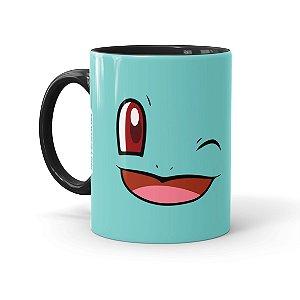 Caneca Porcelana Pokémon Squirtle Preta