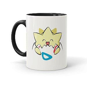 Caneca Porcelana Pokémon Togepi Preta