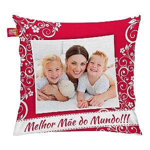 Almofada Personalizada Melhor Mãe do Mundo 01 35x35cm