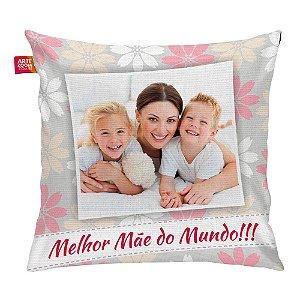 Almofada Personalizada Melhor Mãe do Mundo 02 35x35cm