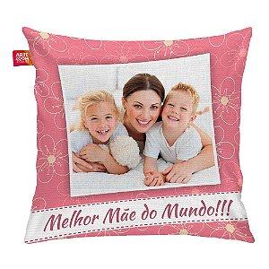 Almofada Personalizada Melhor Mãe do Mundo 03 35x35cm