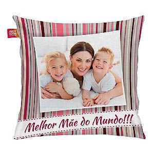 Almofada Personalizada Melhor Mãe do Mundo 04 35x35cm