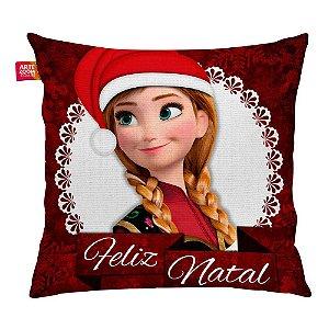 Almofada Feliz Natal Frozen Anna 01 35x35cm