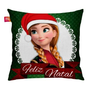 Almofada Feliz Natal Frozen Anna 02 35x35cm