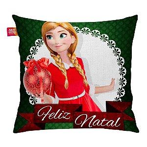 Almofada Feliz Natal Frozen Anna 03 35x35cm
