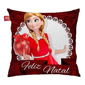 Almofada Feliz Natal Frozen Anna 04 35x35cm