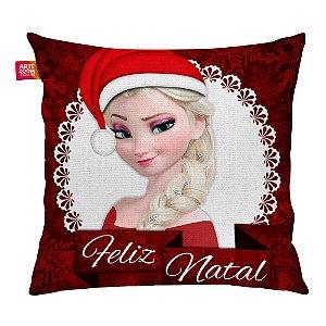 Almofada Feliz Natal Frozen Elsa 01 35x35cm