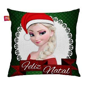 Almofada Feliz Natal Frozen Elsa 02 35x35cm