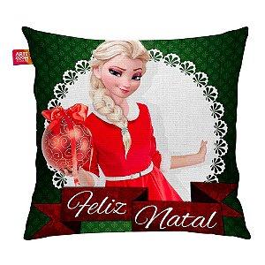 Almofada Feliz Natal Frozen Elsa 03 35x35cm