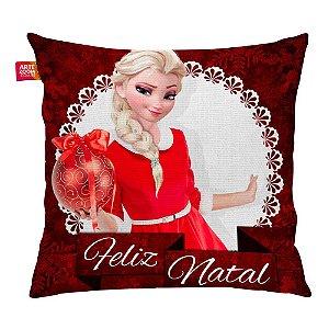 Almofada Feliz Natal Frozen Elsa 04 35x35cm