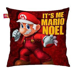 Almofada Natal Mario Bros Its Me Mario Noel 01 35x35cm