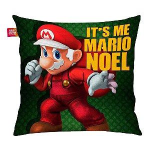 Almofada Natal Mario Bros Its Me Mario Noel 02 35x35cm
