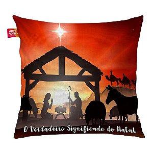 Almofada Natal Nascimento de Jesus 01 35x35cm