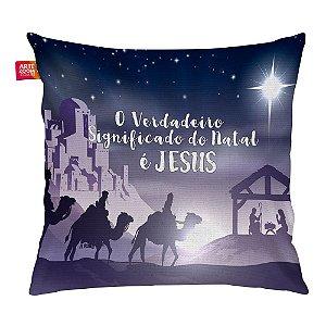 Almofada Natal Nascimento de Jesus 03 35x35cm