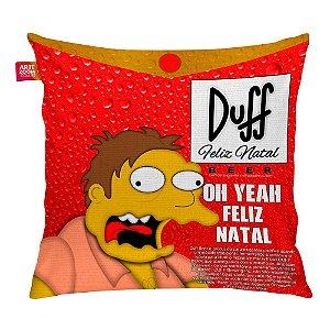 Almofada Simpsons Barney Gumble Duff Beer Feliz Natal 35x35cm