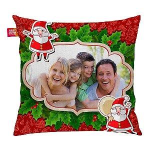 Almofada Personalizada Natal Noel com Foto 01 35x35cm