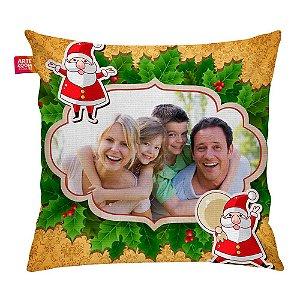 Almofada Personalizada Natal Noel com Foto 02 35x35cm