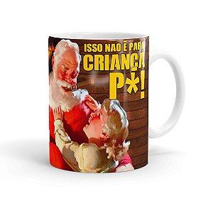 Caneca Porcelana Natal Skol Com Refri Aqui Não 01 Branca