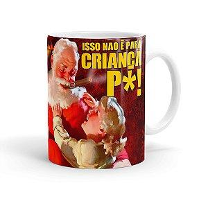 Caneca Porcelana Natal Skol Com Refri Aqui Não 02 Branca