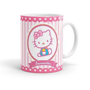 Caneca Porcelana Personalizada Hello Kitty Branca
