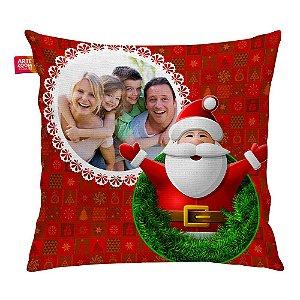 Almofada Personalizada Natal Noel com Foto 03 35x35cm