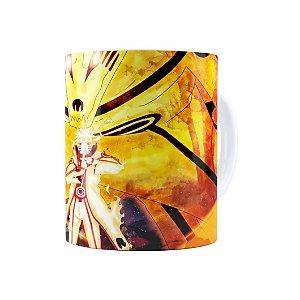 Caneca Porcelana Naruto Shippuden Naruto Modo Bijuu 01 Branca