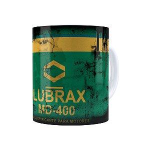 Caneca Porcelana Lata de Óleo Retrô Oil Lubrax 01 Branca