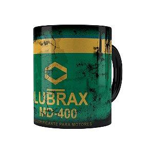 Caneca Porcelana Lata de Óleo Retrô Oil Lubrax 01 Preta