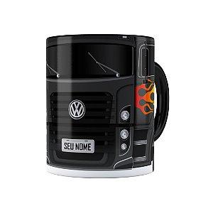 Caneca Personalizada Truck Cinza Escuro 01 com Nome Preta