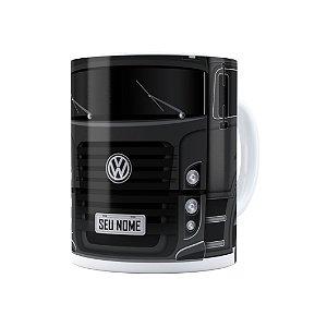 Caneca Personalizada Truck Cinza Escuro 02 com Nome Branca