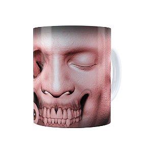 Caneca Porcelana Cabeça de Zombie 03 Branca