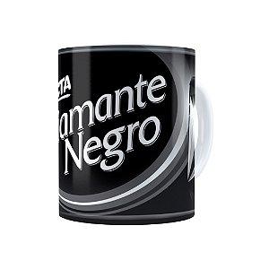 Caneca Porcelana Chocolate Diamante Negro Barra Branca