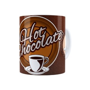 Caneca Porcelana Hot Chocolate Branca