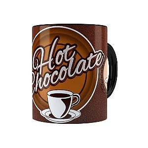 Caneca Porcelana Hot Chocolate Preta