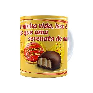 Caneca Porcelana Chocolate Serenata de Amor 01 Branca