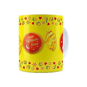 Caneca Porcelana Chocolate Serenata de Amor 02 Branca
