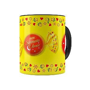 Caneca Porcelana Chocolate Serenata de Amor 02 Preta