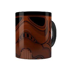 Caneca Porcelana Chocolate Star Wars Chocotrooper Preta