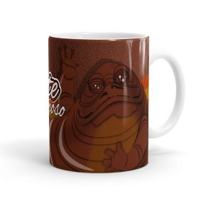 Caneca Chocolate Star Wars Jabba The Hutt Branca