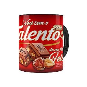 Caneca Chocolate Talento Barra Mensagem 01 Preta
