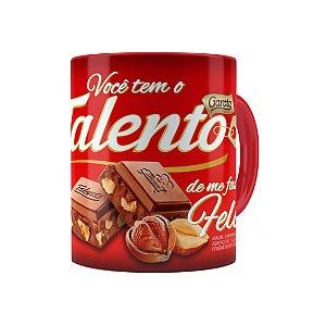 Caneca Chocolate Talento Barra Mensagem 01 Vermelha