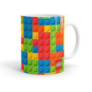 Caneca Porcelana Lego 01 Branca