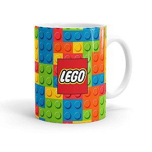 Caneca Porcelana Lego 02 Branca