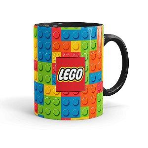 Caneca Porcelana Lego 02 Preta