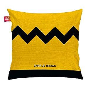 Almofada Peanuts Charlie Brown Minimalista 35x35cm