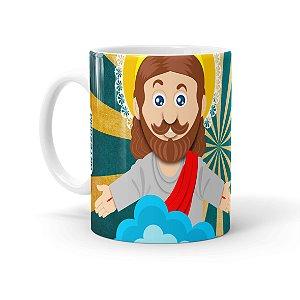 Caneca Páscoa O Verdadeiro Significado é Jesus 01 Branca