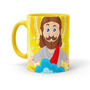 Caneca Páscoa O Verdadeiro Significado é Jesus 02 Amarela